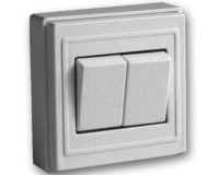 Doble Interruptor superficie serie  1600 -