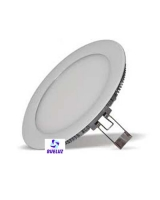 Downlight LED 12W extraplano Plata 3000K -