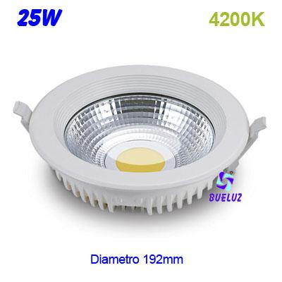 Downlight LED COB 25W 4200K -