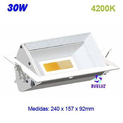 Downlight Rectangular LED COB 30W 4200K -