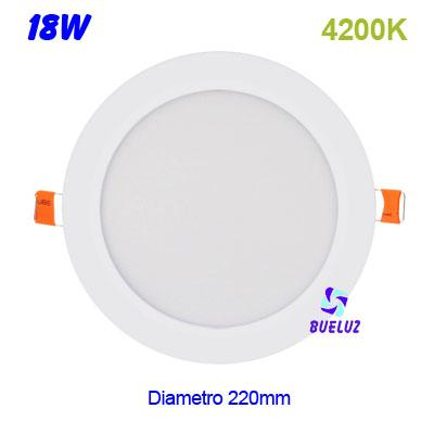 Downlight LED 18W extraplano blanco 4200K -