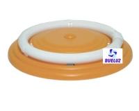 Plafón Circular Naranja 22W con tubo
