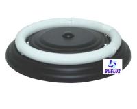 Plafón Circular Negro 32W con tubo -