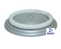 Plafón Circular Plata 22W con tubo -