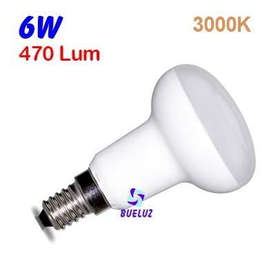 Reflectora LED R-50 E-14 6W 3000ºK