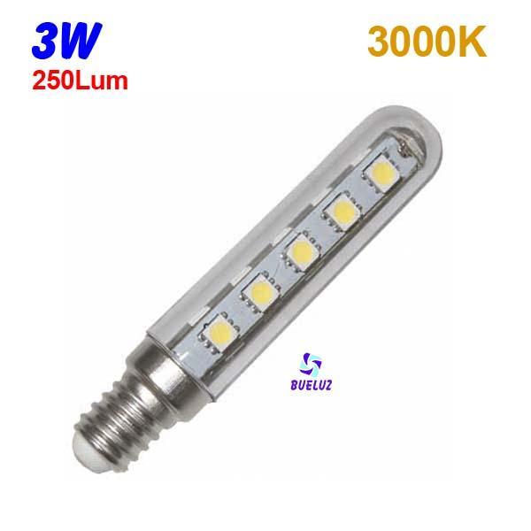 Tubular LED E-14 3W  3000ºK -