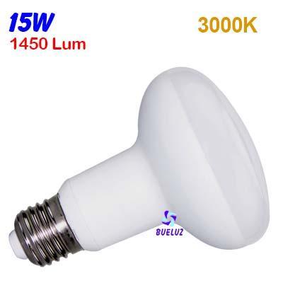 Reflectora LED R-90 E-27 12W 3000ºK -