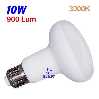 Reflectora LED R-80 E-27 10W 3000ºK -