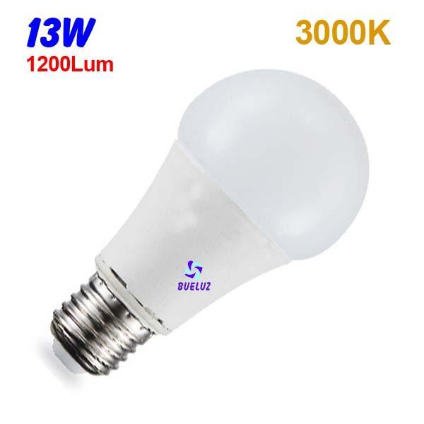 Standar LED E-27 13W Mate 3000ºK -