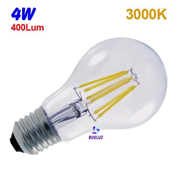 Standar LED E-27 4W Transparente -