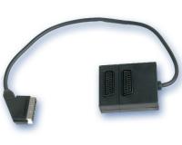 Adaptador 1 Euroconector Macho a 2 Hembras