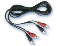 Conexión 2 RCA Macho a 2RCA Macho 1,5 mts -