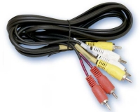 Conexión audio - estéreo 3RCA macho a 3RCA macho. -