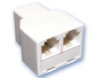 Repartidor Telefonico 1 Hembra a 2 Hembras RJ11 -