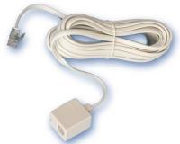 Conexion Telefono Macho-Hembra RJ11 7,5 mts -