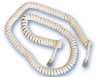 Conexion de Telefono Espiral 4P/4C macho/macho 4,5 mts -