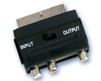 Adaptador euroconector macho 21 pins - 3RCA. -