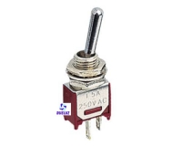 Conmutador unipolar mini 3 Amp. 250V. -