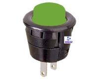 Pulsador empotrar 2 Amp 250V. Verde