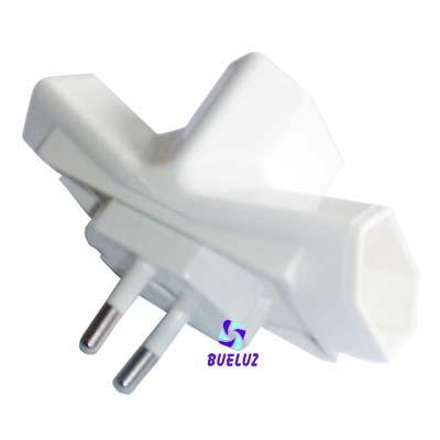 Clavija triple patilla 4 mm -