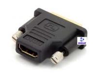 Adaptador DVI (24+5) macho a HDMI 19P hembra -