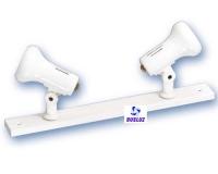 Regleta 2-Focos Superficie E14 Blanco -