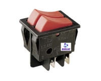 Interruptor doble empotrar 6 Amp. 250V