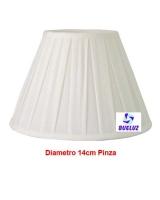 Pantalla Tela Plisada 14cm Pinza Blanca   -