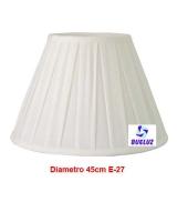 Pantalla Tela Plisada 45cm E-27 Blanca