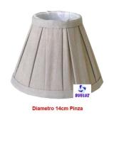 Pantalla Tela Plisada Arena Lino Redonda 16cm E-14   -