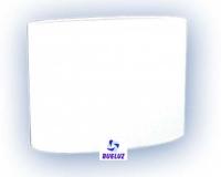 Pantalla Tela Ovalada Blanca 30cm E-27   -