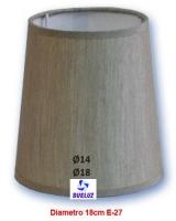 Pantalla Tela Conica Electra Gris 18cm E-27 -