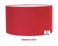 Pantalla Cilindrica Rojo 25cm E-27 -