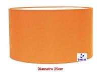 Pantalla Cilindrica Naranja 25cm E-27 -