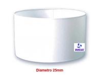Pantalla Cilindrica Blanca 25cm E-27 -