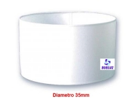 Pantalla Cilindrica Blanca 35cm E-27 -