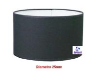 Pantalla Cilindrica Negro 25cm E-27 -
