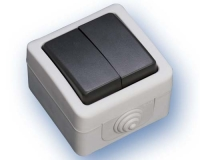 Doble Conmutador Estanco IP44 (ECO) -