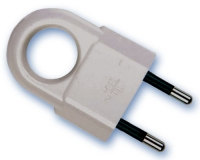 Clavija bipolar 10 Amp agarre ergonomico
