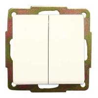 Doble conmutador empotrar blanco (GSC) -