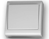 Interruptor superficie 80 x 80 blanco -