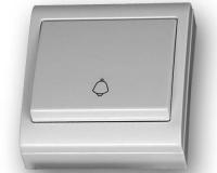 Pulsador campana superficie 80 x 80 blanco -