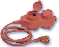 Base 4-Tomas T/T-L con cable y Tapas -