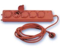Base 5-Tomas T/T-L con cable y Tapas