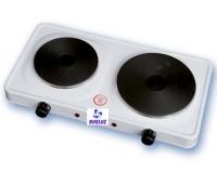 Hornillo placa electrica 2 quemadores 1000+1500W -