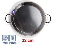Paellera Acero Esmaltado Induccion 32cm -