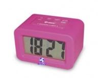 Reloj Despertador Silicona Rosa -