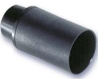 Portalamparas Termoplastico E-14 liso negro -