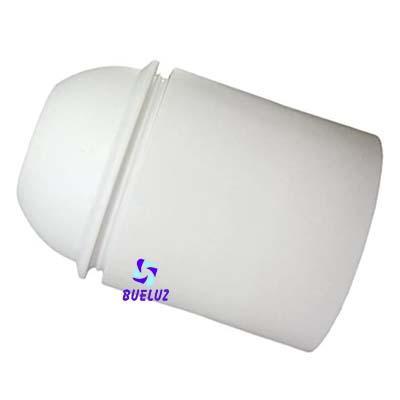 Portalamparas Termoplastico E-27 liso blanco -
