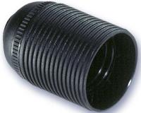 Portalamparas Termoplastico E-27 roscado negro